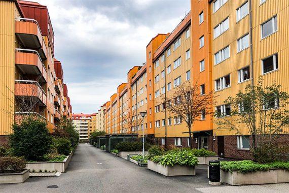 Renoveringar av trapphus på HSB Brf Stampgatan i Göteborg utfört av Floreas Bygg & Förvaltning.