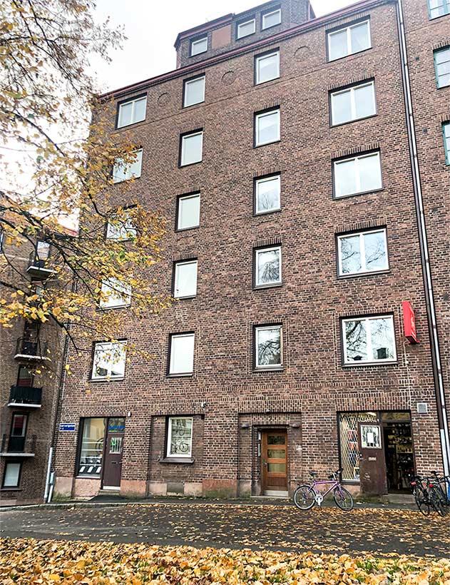 Floreas Bygg renoverar trapphus på Brf Stampgatan 19:13 (Garverigatan 7) i Göteborg.