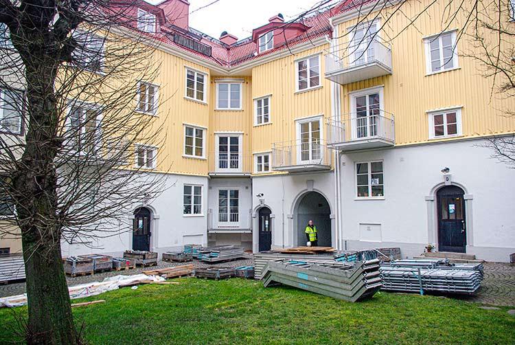 Renoveringar på Landerigatan i Göteborg utfört av Floreas Bygg & Förvaltning.